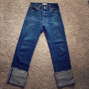 re/done high waist wide leg jeans